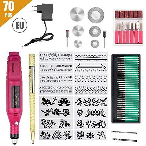 LILYKASURE Mini Multifunktionswerkzeug, Mini Schleifer mit 69 Stück Zubehör Graviergerät Rotary tool für viele kreative Projekte, DIY oder Heimwerkerarbeiten