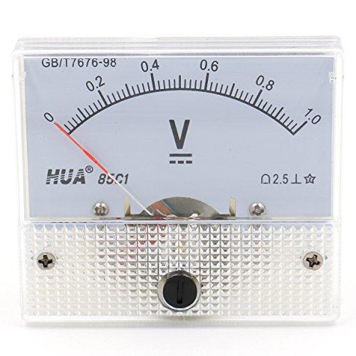 heschen 85C1-1V Rechteck Panel Mounted Spannung Meter Voltmeter Tester DC 0-1V Klasse 2,5weiß - Dc Analog Voltmeter-panel