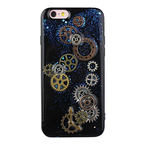 Coque iPhone 6 Silicone, Etui iPhone 6S Souple TPU, iPhone SE Transparent Case, Moon mood® Soft Gel TPU Bumpour pour Apple iPhone 6S Protection Housse Coquette Gel Coque Ultra Mince Case Cover Telepho 3D TPU -01