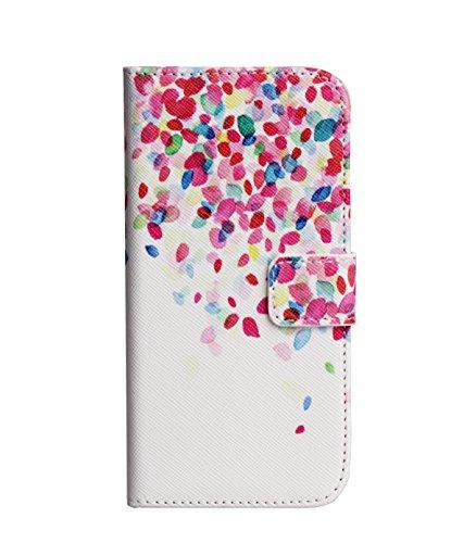 "Monkey Cases® iPhone 64,7""- Flip Case-Feuilles Multicolore-Premium-Original-Nouveau-Sac-Rose Coton"