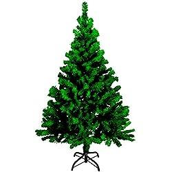 G&M Künstlicher Tannenbaum 180cm mit Tannenbaumständer Farbe grün oder weiß | Weihnachtsbaum | PVC Christbaum | Kunstbaum Dekobaum Tanne (grün)