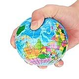 The Best Toy Gift,Winkey Stress Relief World Map Foam Ball Atlas Globe Palm Ball Planet Earth Ball (76mm)