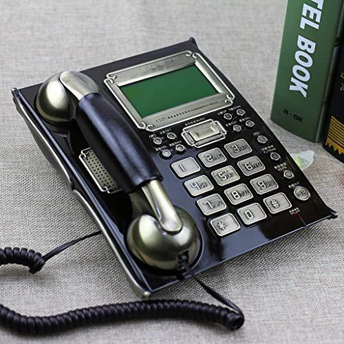 Telefono fisso con filo sottile, telefono fisso, impermeabile ea prova di umidità, per il bagno dell'hotel home office - noce nero