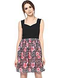 256c49da785 Roving Mode Women's Sleeveless Printed A-Line Mini Dress