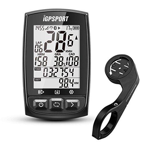 Fahrradcomputer iGPSPORT GPS Drahtloser Tacho Computer Kilometerzähler IPX7 Wasserdicht Mit ANT+ Function mit Halterung Englisch Version(Schwarz) …