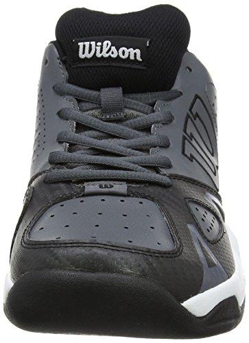 WILSON  Scarpe da Tennis Uomo, Rush Open 2.0 Iron Gate Bianco (Black/white)