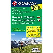 Carta escursionistica n. 57. Brunico, Dobbiaco, Alta Val Pusteria-Bru neck, Toblach, Hochpustertal. Adatto a GPS. Digital map. DVD-ROM