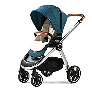 AIFCX Multi-Functional Foldable pram Pushchair Reversible baby trolley carriage Lightweight Folding Buggy Travel Stroller Recline Buggy Airplane 0-3 Ages,Green   9