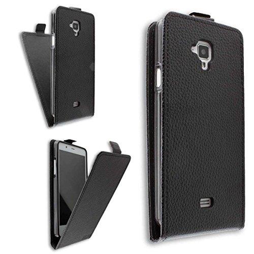 caseroxx Hülle/Tasche Flip Cover passend für Archos 50 Titanium 4G, Schutzhülle (Handytasche klappbar in schwarz)