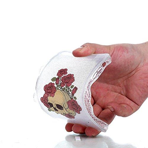 Beiuns pour Apple iPhone 6 Plus (5,5 pouces) Coque en Silicone TPU Housse Coque - YT005 Le chat triste YT010 Roses et crâne