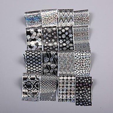 16 Stk. Halloween Weihnachten schwarz Super Qualität Nail Sticker Star Paper