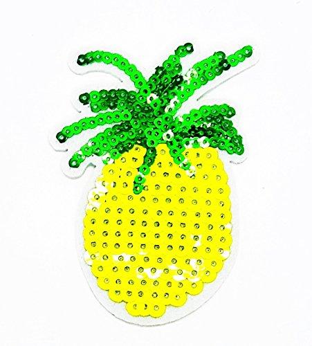 rabana gelb Cute Pretty Ananas Früchte Cartoon Kids Kinder Cute Animal Patch für Heimwerker-Applikation Eisen auf Patch T Shirt Patch Sew Iron on gesticktes Badge Schild (Kostüm Ananas Diy)