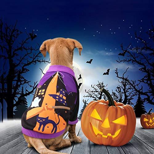 ierkostüm für Halloween, Kürbis-Motiv, Fleece, Jacke, Pullover, für Katzen, Welpen, Chihuahua, Verkleidung, Party, Halloween, Weihnachten, Ostern, Festival, Aktivitätskleidung ()