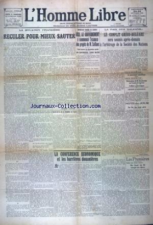 HOMME LIBRE (L') [No 3379] du 24/10/1925