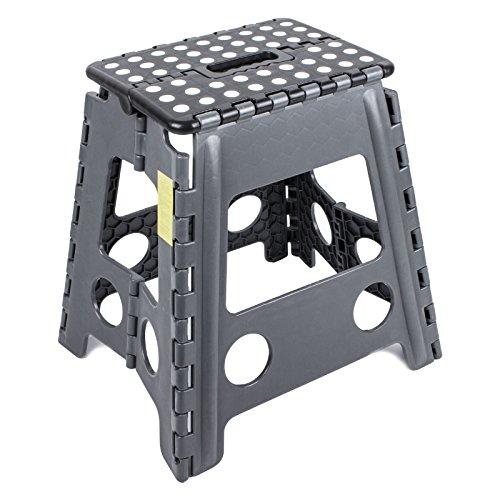 Preisvergleich Produktbild Trittstufe Kunststoff klappbar Anti Rutsch 39, 5 cm Höhe 120 Kg belastbar für Wohnwagen und Wohnmobil