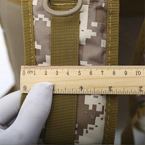70LOutdoor Bergsteigen Rucksack mit Molle Tasche / Militär Tasche / Militär Rucksack / Rucksack Uniform / Camping taktischen Rucksack (Tarnung / schwarz / ACU / khaki) B