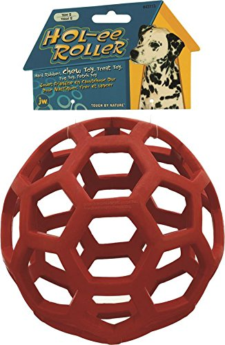 jw-pet-holee-roller-ball-dog-chew-treat-fetch-bouncy-toy-jumbo-20-cm