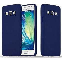 Cadorabo Coque pour Samsung Galaxy A3 2015 en Candy Bleu FONCÉ - Housse Protection Souple en Silicone TPU avec Anti-Choc et Anti-Rayures - Ultra Slim Fin Gel Case Cover Bumper