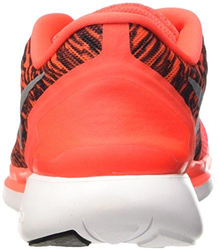 Nike  Free 5.0 Print, Chaussures de Running Compétition homme Orange - Orange (Bright Crimson/Black-White 600)