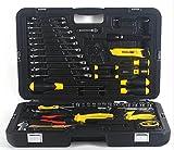 QXXZ 58 Stück Home Tool Set Steckschlüssel Auto Repair Tool Kombination Mixed Tool Set Handwerkzeug Kit mit Kunststoff Toolbox Aufbewahrungskoffer