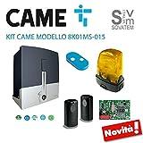 KIT CAME CANCELLO SCORREVOLE 8K01MS-015 24V 400 KG COMPLETO DI 1 TELECOMANDO