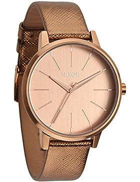 Nixon Damen-Armbanduhr Kensington Analog Quarz Leder A1081923-00