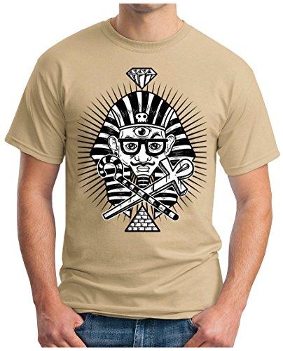 OM3 - DOPE-PHARAO - T-Shirt GEEK, S - 5XL Khaki