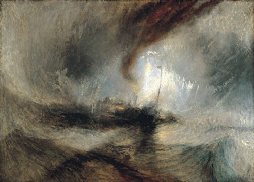 J.M.W. Turner Snow Storm. Steam Boat Off A Harbour 's Mouth Making Signals in shallow water, 1842. 250 gsm, Hochglanz, A3, vervielfältigtes Poster