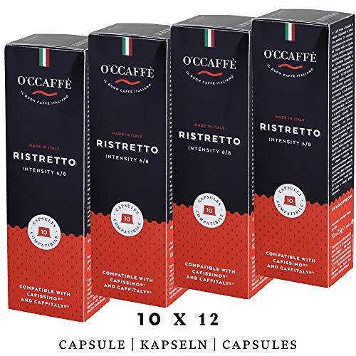 O'ccaffè Café Ristretto   Tchibo Cafissimo kompatible Kapseln   starker aromatischer Kaffee   120 Stück