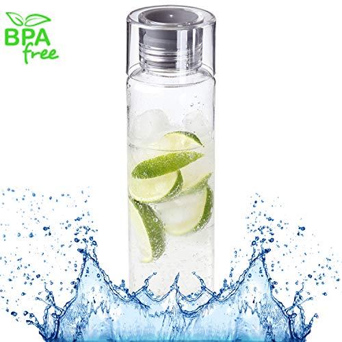 Trinkflasche Acqua 580ml Wasserflasche Auslaufsicher Sportflasche BPA-Frei Perfekte Trinkflasche für Unterwegs, Schule, Sport, Arbeit
