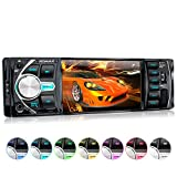 XOMAX XM-VRSU414BT Radio de Coche con 4'' / 10 cm Pantalla I Bluetooth I 7 Colores de Iluminación Ajustable I USB, SD, AUX I 1 DIN