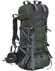 Aficionados al aire libre Viajes Duffel Mochila Daypack Paquete de senderismo y mochila Ciclismo Mochila de alta capacidad (60L)