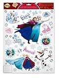 Fensterbild 45-TLG. Winter Frozen die Eiskönigin Anna ELSA Olfaf Sticker Wandtattoo Winterdeko Winterdekoration