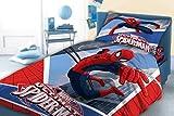 Spiderman Parure 100% cotone copripiumino 140x 200cm + federa biancheria da letto Reversibile