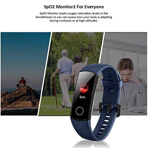 Imagen de honor band 5 smartwatch pulsera de actividad con pulsómetro mujer hombre, monitor de actividad deportiva, ritmo cardíaco, impermeable ip68, reloj fitness, con podómetro alternativa