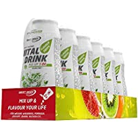 Best Body Nutrition Vital Drink Mix up 1:80 Waldmeister Flavour Drops, 6 x 48ml