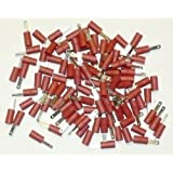 Cosses électriques mâles plates ROUGES 2.8 - 100 COSSES