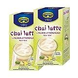 Krüger Chai Latte Fresh India, Ingwer-Zitronengras, mildes Milchtee Getränk, 2er Pack, 2 x 10 Portionsbeutel