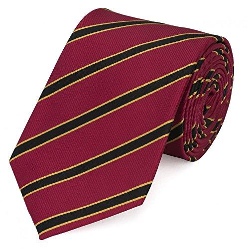 Krawatte Hermine Kostüm - Fabio Farini Schlips Krawatte Krawatten Binder 8cm rot gelb schwarz gestreift