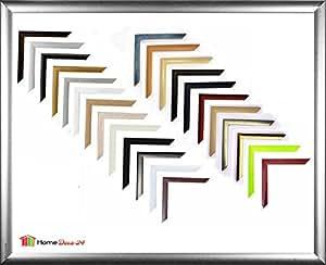 Paris MDF-Bilderrahmen 70x98 cm, schmale Leiste, 98x70 cm Farbauswahl: hier Dunkelblau gewischt mit Antireflex-Acrylglas