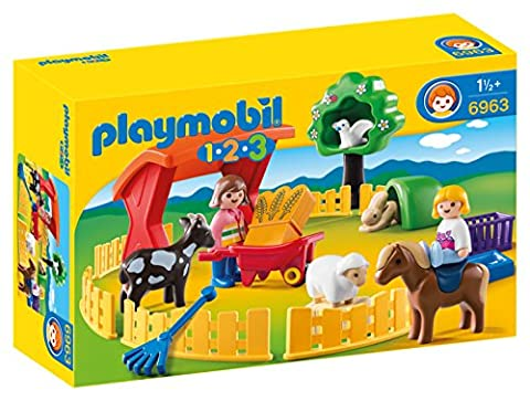 Playmobil 6963 1.2.3 Petting Zoo with 5 Animals