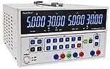 PeakTech Linear DC de modulación de doble dispositivo de fuente de alimentación de laboratorio (2x 0–30V/0–5A, regulable. y 5V/3A fijo Voltaje; Campo de distancia por botón, 1pieza, P 6075