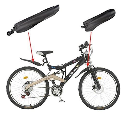 NiceButy Schutzblech für Vorder- und Hinterrad, Fender Schutzbleche für Mountainbike, für Fahrrad-Reifen, Mountainbike, Zubehör, Schwarz