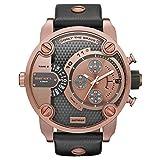 Diesel Herren Chronograph Quarz Uhr mit Leder Armband DZ7282