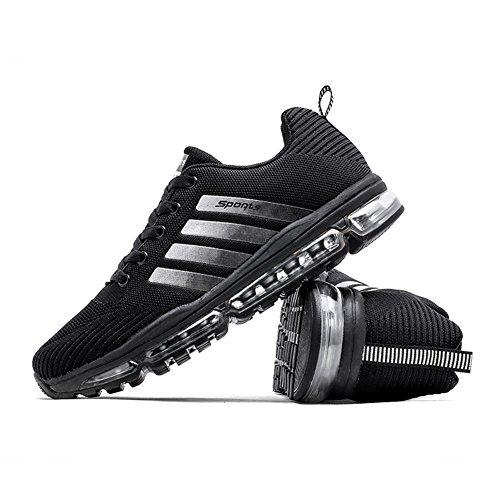 Fexkean Unisex Sportschuhe Laufschuhe Turnschuhe Atmungsaktiv Sneakers Air Sport Casual Shoes Herren Damen - 3