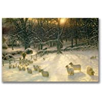 Image of Trademark Fine Art The Shortening Winter's Day by Joseph Farquharson Canvas Wall Art, 22x32-Inch - Comparsion Tool