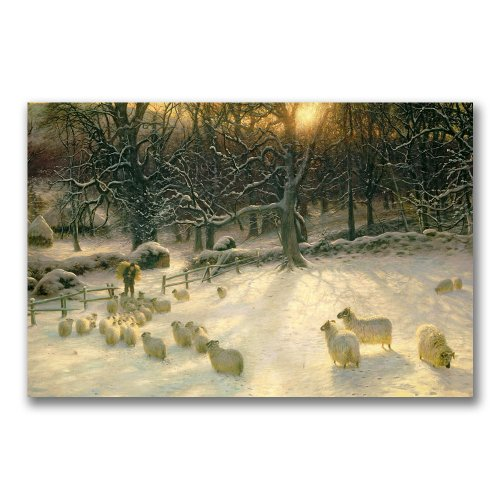 Trademark Fine Art The Shortening Winter's Day by Joseph Farquharson Canvas Wall Art, 22x32-Inch - Best Price
