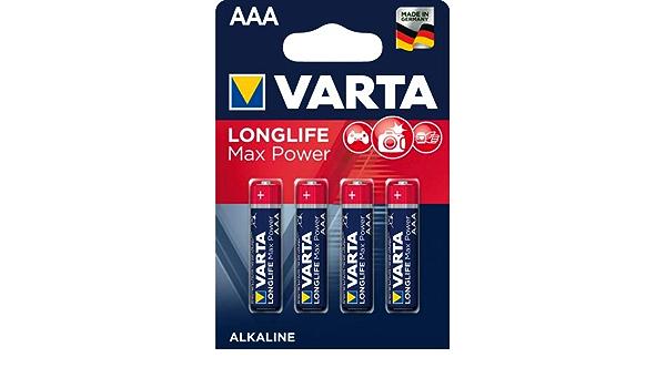 Varta Batterie Longlife Max Power Alkali Mangan Micro Aaa Lr03 1 5 V 1 200 Mah 4 Stück Sie Erhalten 1 Packung á 4 Stück Bürobedarf Schreibwaren