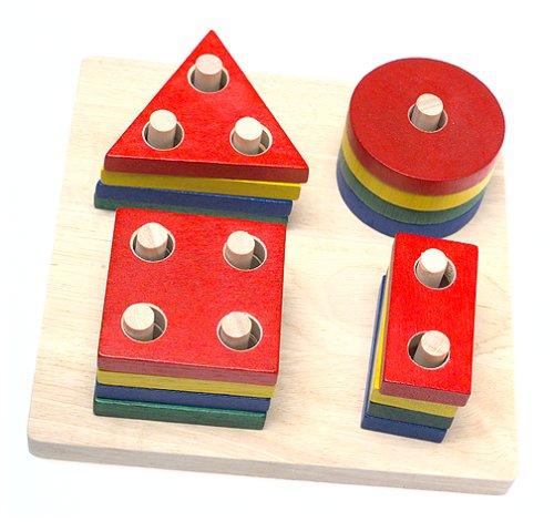 Imagen principal de Plan Toys 2403 - Figuras geométricas de madera