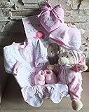 Baby unisex Geschenkset - Präsentkorb +8 tlg. zur Geburt -Taufe (rosa) gr.62